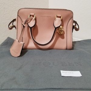 Alexander McQueen Mini Padlock Satchel Bag Cream